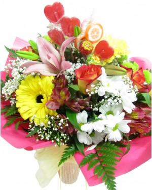 Flores y caramelos
